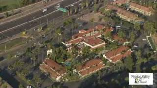 Mission Valley Resort by Helicopter - Aerial View of San Diego