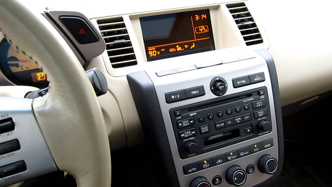 hight resolution of 2004 nissan murano awd v6 glacier pearl stock 606618 interior youtube