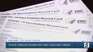 State cracks down on fake vaccine cards