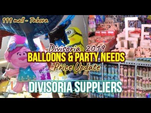 Divisoria Balloons & Party Needs price Update + New Mayor,New Divisoria