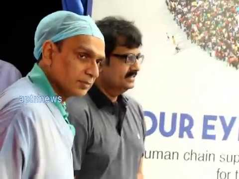 Dr Agarwal Eye Hospital,Actor Vivek inaugurates Eye donate awareness Human chairn