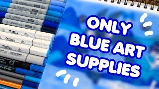 ☆ FEELING BLUE?! || Using ONLY Blue Art Supplies! || My Neighbor Totoro ☆