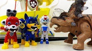 Щенячий Патруль Мультики и Динозавр Робот Ромео Видео для детей про #игрушки Paw Patrol toys