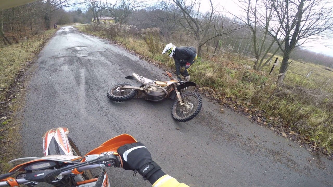 Funny Video: Dirtbike Drifting Fail