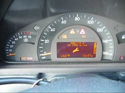 Oil interval reset for 2001 mercedes benz c240 youtube for Mercedes benz dashboard lights not working