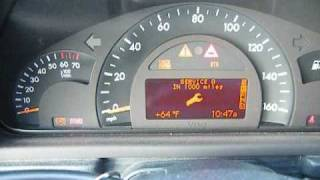 Oil Interval Reset for 2001 Mercedes Benz C240