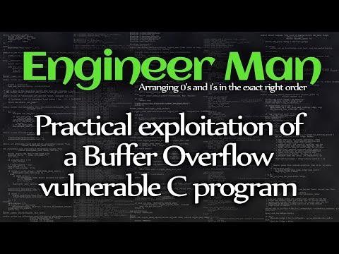 Practical exploitation of a Buffer Overflow vulnerable C