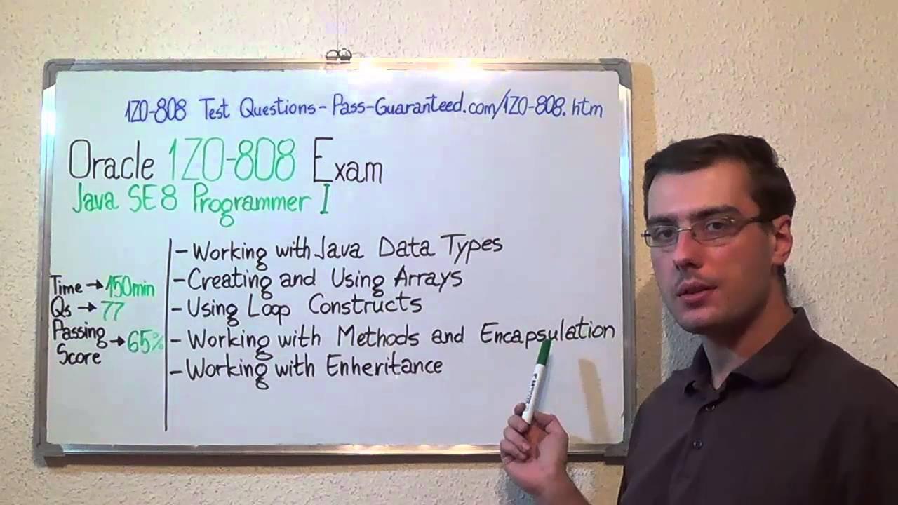 1z0 808 Java Exam Se 8 Test Programmer I Questions Youtube