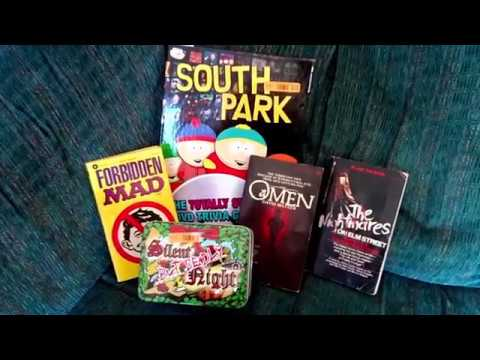 Goodwill Thrift Store Haul 4  Horror Movie Novelizations & Party Games