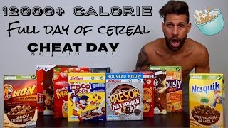 12000 Calorie Challenge - Italiano Cheat Day - Full Day Of Cereal (ENG SUB)