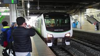 HB-E300系快速リゾートビューふるさと(篠ノ井線観光列車2B)8230D  長野駅発車