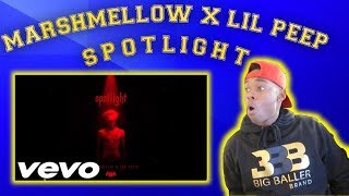 REACTING TO MARSHMELLOW X LIL PEEP - SPOTLIGHT [OFFICIAL AUDIO]