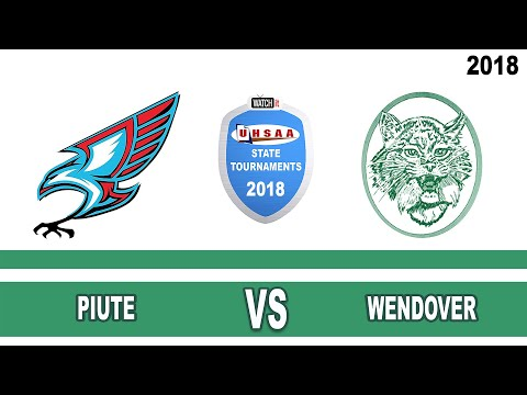 1A Volleyball: Piute vs Wendover High School UHSAA 2018 Utah State Tournament Round 1
