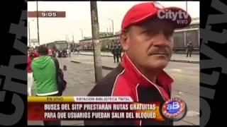 Bloqueos en la estación de Patio Bonito y Tintal   City Tv   Arriba Bogotá   Febrero 10
