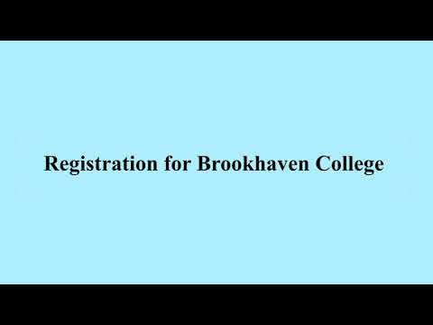 Brookhaven College Registration Step by Step Instructions