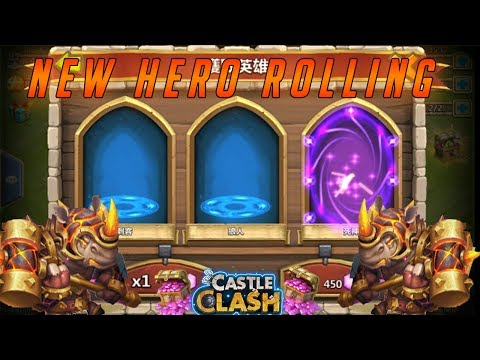 ROLLING FOR RHINO THE NEW HERO - CASTLE CLASH