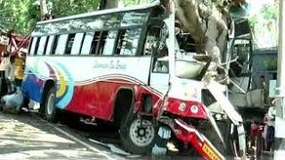 Bus accident in Pollachi | Tamilnadu Bus accident | CCTV Footage