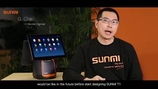 Sunmi t1 the new generation of android cashier machine, specilally design for contactless payment solution, like wechat pay and alipay