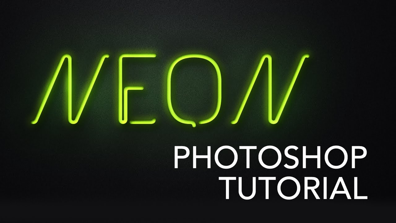 Neon style text photoshop tutorial youtube baditri Image collections