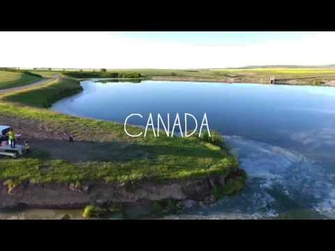 Severn Dam Reservoir, Alberta, Canada