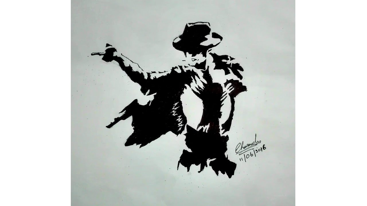 Drawing michael jackson with black pen pencil youtube