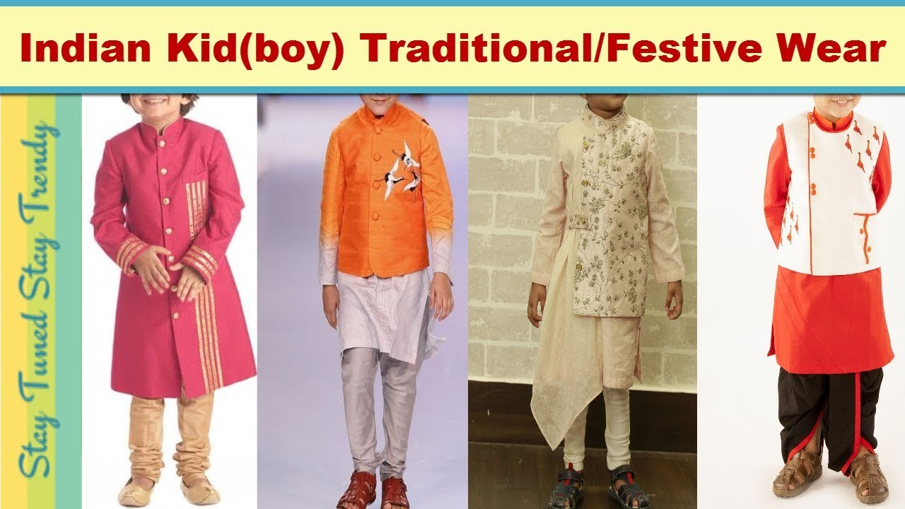 779fad7a098 Indian Kid Traditional Festive Clothes–  Kurta pajama dhoti sherwani ...