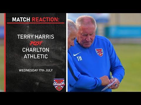 MATCH REACTION: Terry Harris Post Charlton Athletic