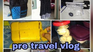 Pre travel vlog/cleaning and de-cluttering/online purchase in amazon/incomplete Mysore Pak  video