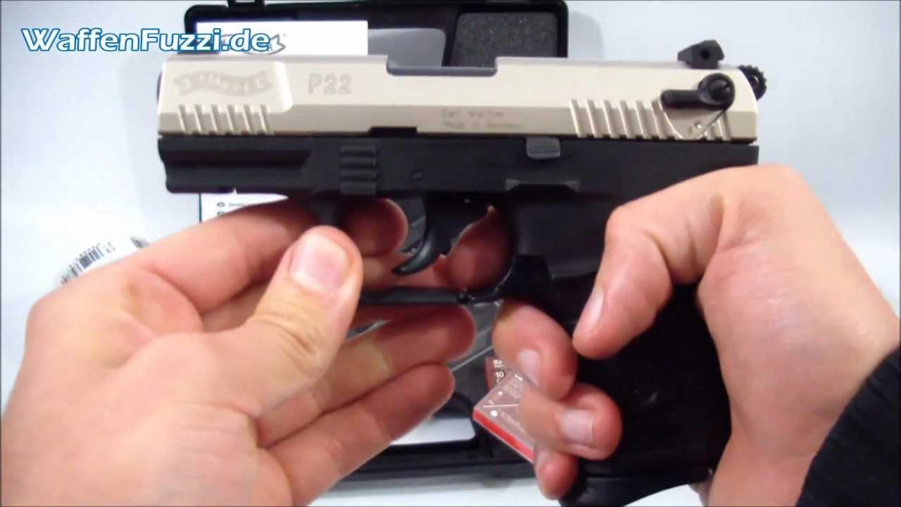 Walther P22 kal  9mm P A K - Schreckschuss, Gaswaffen Test, Gas Pistole,  www waffenfuzzi de