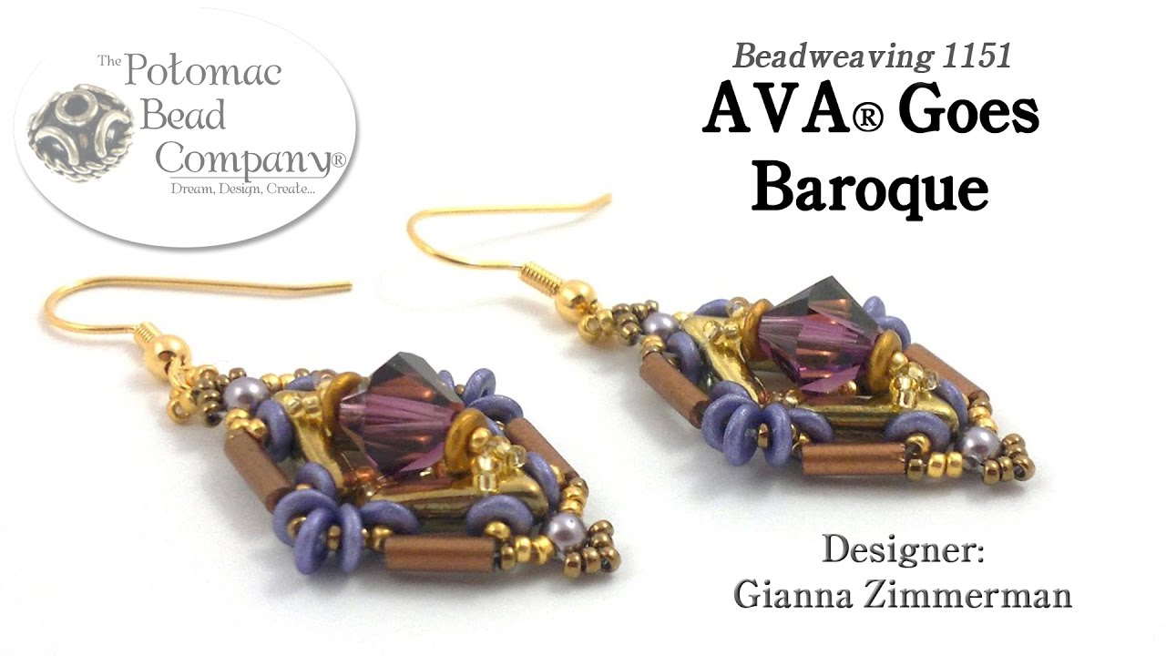 3120b0701 AVA® Goes Baroque (Earring Tutorial) - YouTube