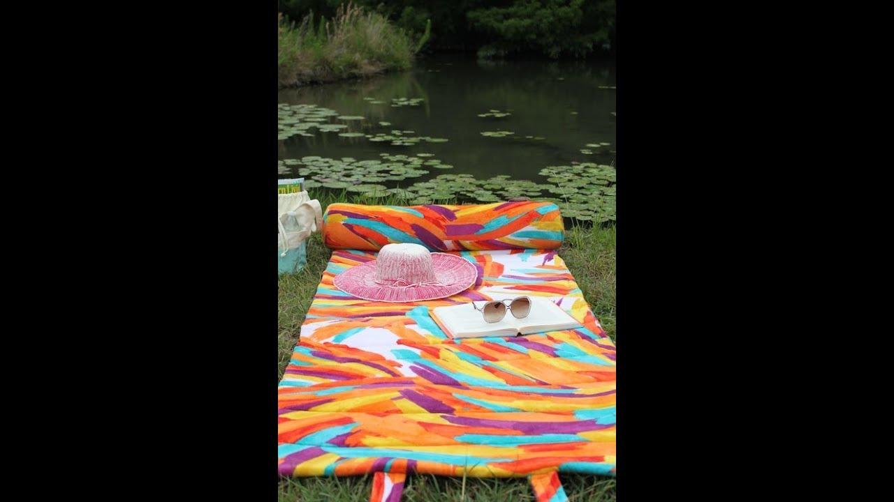 Пляжный коврик сумка своими руками