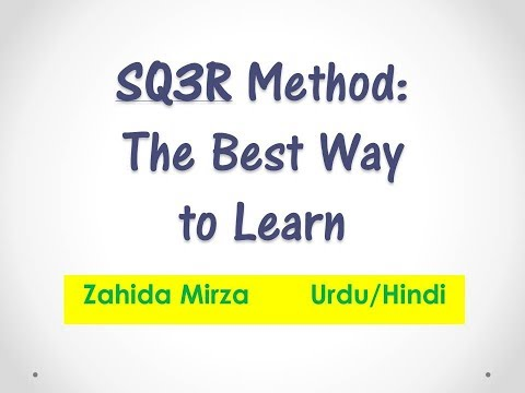 sq3r method Sq3r reading method using the text and notebook, make a table of contents - list all the topics and sub-topics you need to know from the chapter from the table of contents, make a study sheet/ spatial map recite the information orally and in your own words as you put the study sheet/map together.