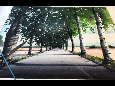 Speed painting – Watercolor summer landscape