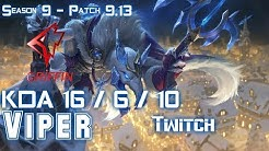 GRF Viper TWITCH vs KAI'SA ADC - Patch 9.13 KR Ranked