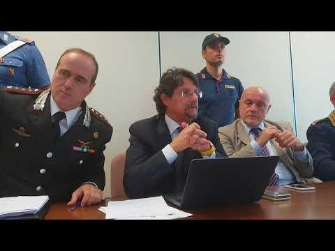 Conferenza stampa operazione Teorema Roccaforte