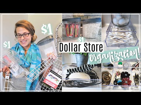 DOLLAR STORE ORGANIZATION IDEAS | ORGANIZING ON A BUDGET