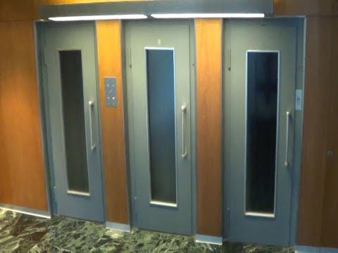3 old Schindler elevators modernized by OTIS in office building @ Geneva, Switzerland