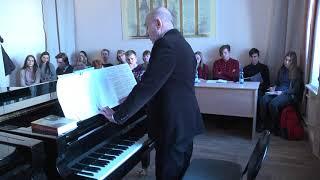 Открытый урок профессора кафедры специального фортепиано С.Я. Вартанова