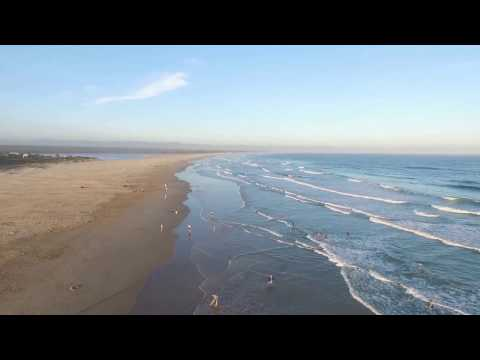 Jeffreys Bay at Sunset by Drone