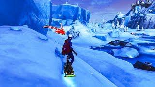 Cómo utilizar el SNOWBOARD DERECHO AHORA mediante el uso de este fallo en el modo creativo de Fortnite! (Fortnite Glitch)