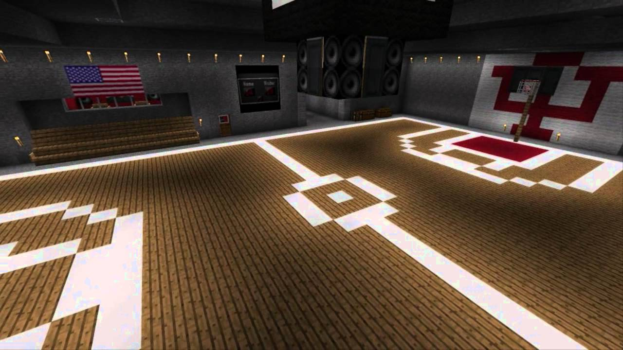 Minecraft movie theatre basketball court and drive in for How to build basketball court