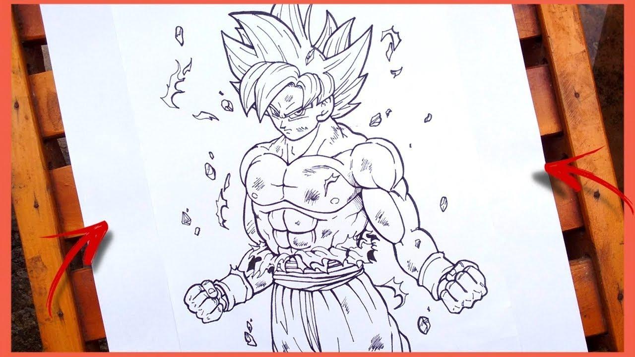 Como Desenhar O Goku Instinto Superior