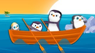 Gambar cover Row, Row, Row Your Boat - Penguins | BABY BY DREAMWORKS Nursery Rhymes