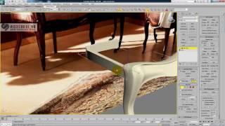 Интерьер в 3d max - курс Патефонная комната - урок 12-2 - моделирование классического кресла