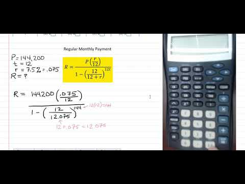 Financial Math: Regular Mortgage Payment and Amortization Schedule Calculation