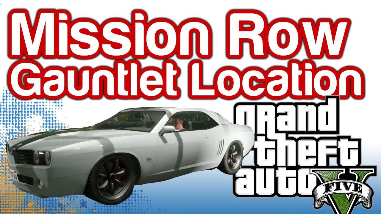 Grand Theft Auto 5 GTAV  Mission Row Gauntlet Location  100