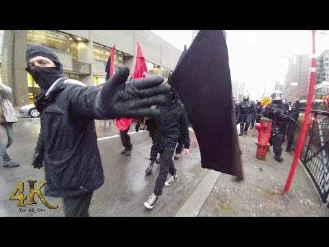 Montreal: May day protest 5-1-2017 / Manifestation du 1er mai 2017