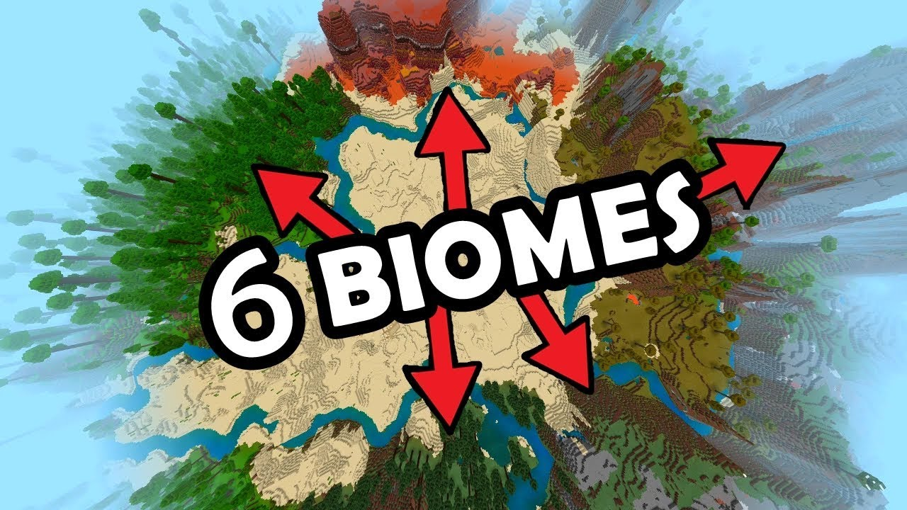 The BEST SEED for MINECRAFT BEDROCK EDITION! (9 Biomes at Spawn, 9 Temples,  Fossil & More)