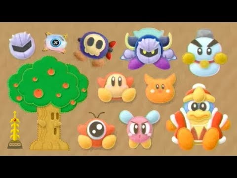 Kirby's Epic Yarn - All Characters, Furniture Pieces & Fabrics