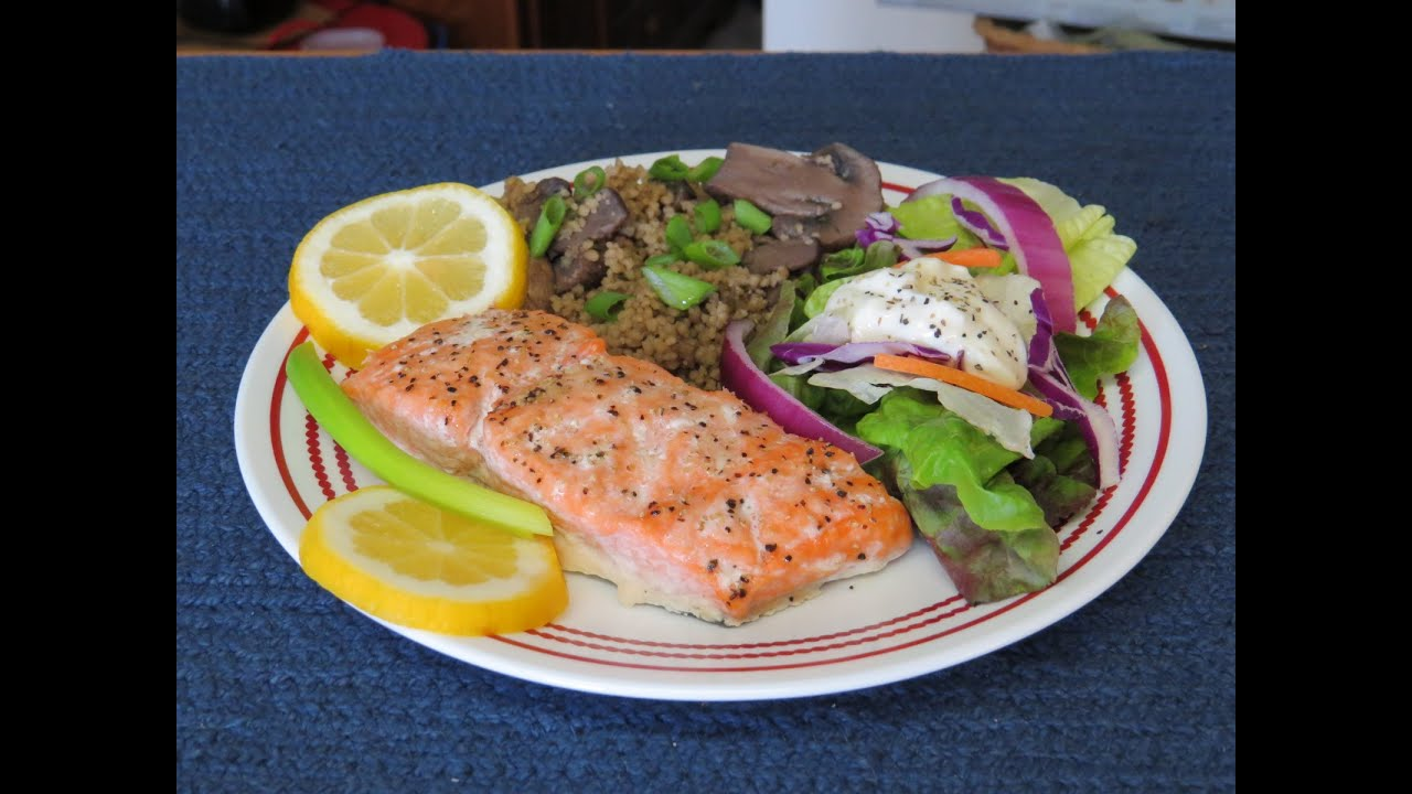How To Bake Marinated Salmon In The Toaster Oven~easy Cooking